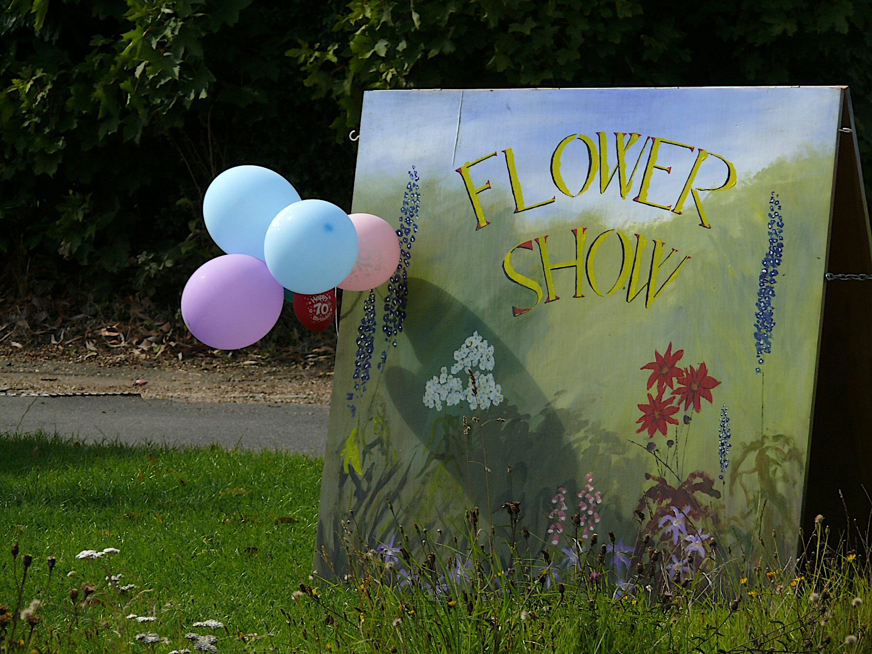 Sign to horticultural show