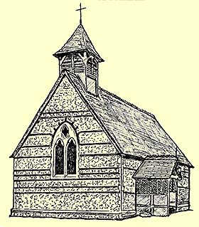 Hawridge church drawing