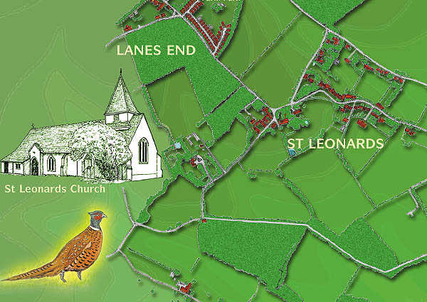 St Leonards map
